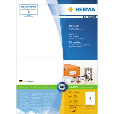HERMA Universaletikett PREMIUM  800 Etik./Pack.