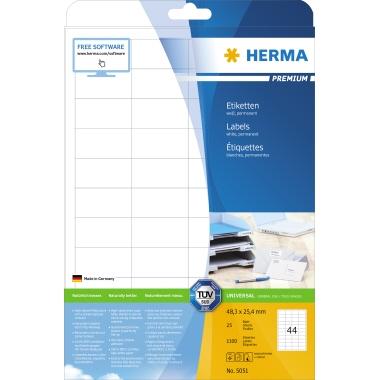 HERMA Universaletikett PREMIUM  48,3 x 25,4 mm  (B x H)
