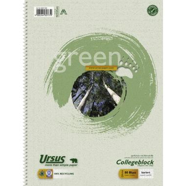 Ursus® Collegeblock Green