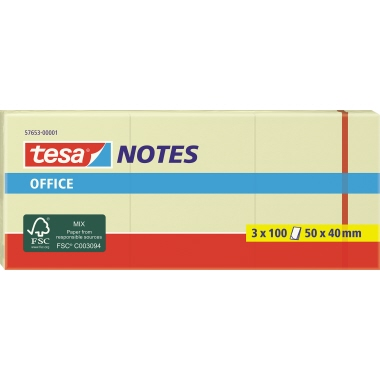 tesa® Haftnotiz Office Notes  3 Block/Pack.