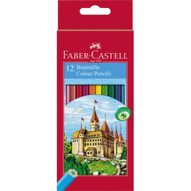 Faber-Castell Farbstift CASTLE  12 St./Pack.