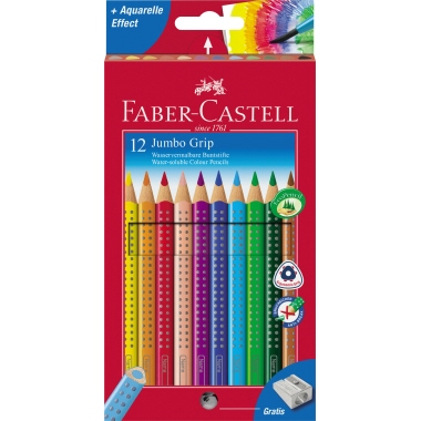 Faber-Castell Farbstift Jumbo GRIP  12 St./Pack.