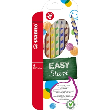 STABILO® Farbstift EASYcolors   inkl. Spitzer 6 St./Pack.