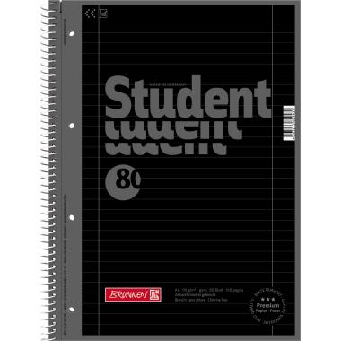 BRUNNEN Collegeblock Student Colour Code  liniert mit Rand innen/außen