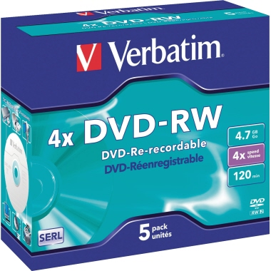 Verbatim DVD-RW 4x Jewelcase