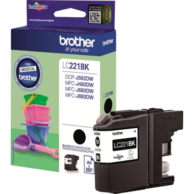 Brother Tintenpatrone  LC221BK