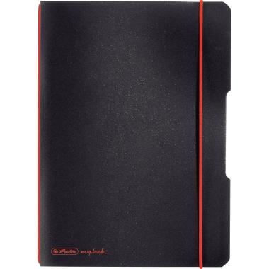Herlitz Notizbuch my.book flex  DIN A5 Polypropylen schwarz