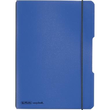 Herlitz Notizbuch my.book flex  DIN A5 Polypropylen blau