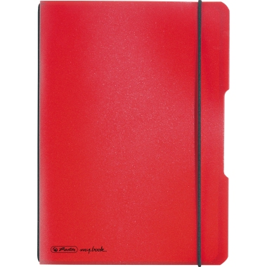 Herlitz Notizbuch my.book flex  DIN A5 Polypropylen rot