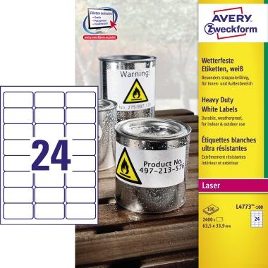 Avery Zweckform Folienetikett  63,5 x 33,9 mm (B x H)