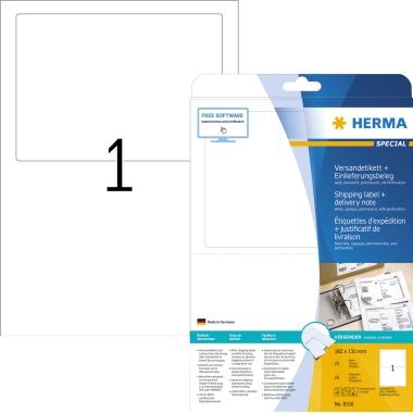 HERMA Adressetikett  inkl. Einlieferungsbeleg