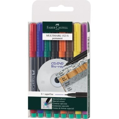 Faber-Castell CD/DVD Marker MULTIMARK 1523  8 St./Pack.