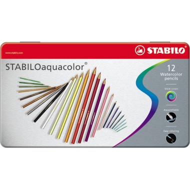 STABILO® Farbstift aquacolor®  12 St./Pack.