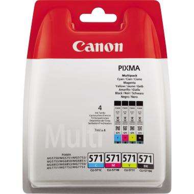 Canon Tintenpatrone  CLI571 4 St./Pack.
