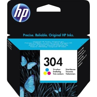 HP Tintenpatrone  304 cyan/magenta/gelb