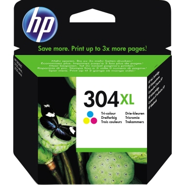 HP Tintenpatrone 304XL cyan/magenta/gelb