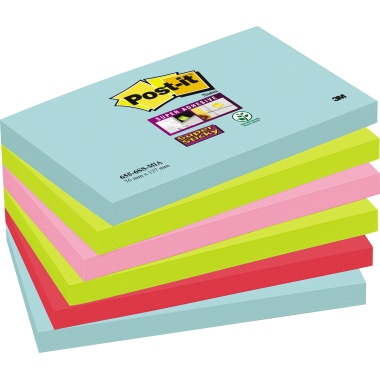 Post-it® Haftnotiz Super Sticky Notes Miami Collection  127 x 76 cm (B x H)