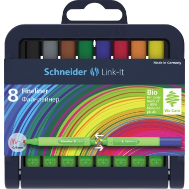 Schneider Fineliner Link-It  8 St./Pack.