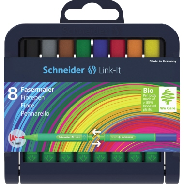 Schneider Fasermaler Link-It  8 St./Pack.