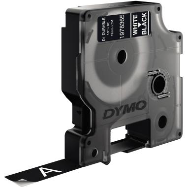 DYMO® Schriftbandkassette D1  12 mm x 3 m (B x L) schwarz