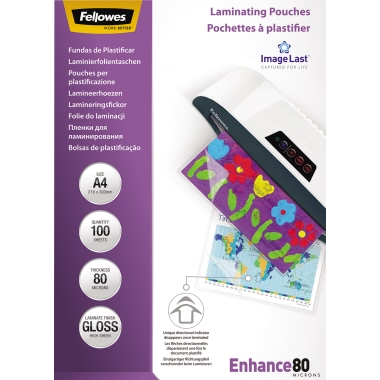 Fellowes® Laminierfolie ImageLast™ Enhance 80  DIN A4