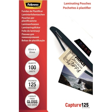 Fellowes® Laminierfolie Capture 125 65 x 95 mm (B x H)