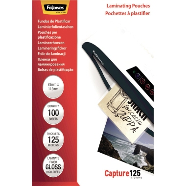 Fellowes® Laminierfolie Capture 125 83 x 113 mm (B x H)