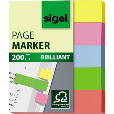 Sigel Haftmarker Brillant  12 x 50 mm (B x H)
