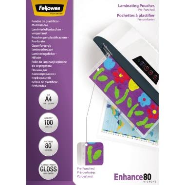 Fellowes® Laminierfolie Enhance 80 232 x 308 mm (B x H)