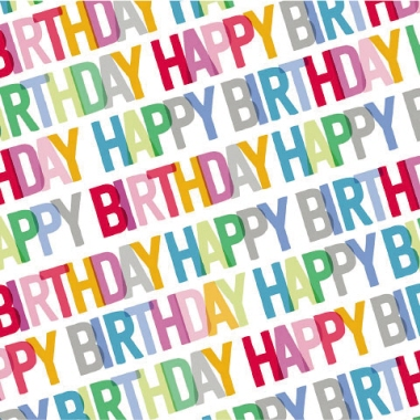 Artebene Serviette  Happy Birthday