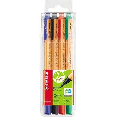 STABILO® Fasermaler GREENpoint® 4 St./Pack