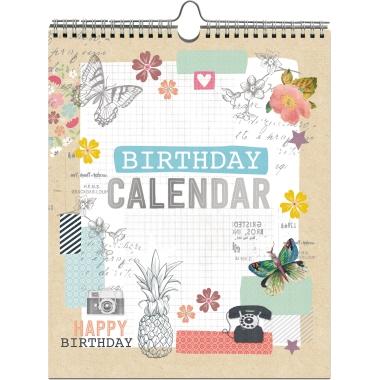 Artebene Geburtstagskalender  21 x 26 cm (B x H)