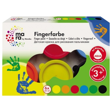 Marabu Fingerfarbe 6 x 35 ml 6 St./Pack.