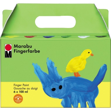 Marabu Fingerfarbe  6 x 100 ml 6 St./Pack.
