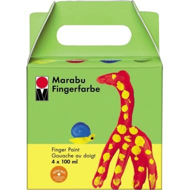 Marabu Fingerfarbe 4 x 100 ml 4 St./Pack.