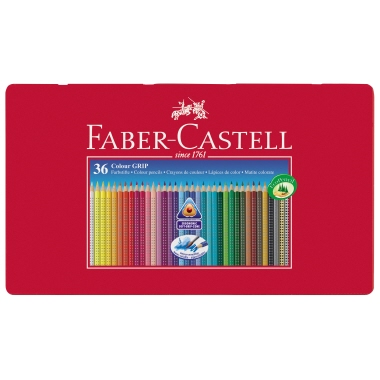 Faber-Castell Farbstift Colour GRIP  Metalletui 36 St./Pack.