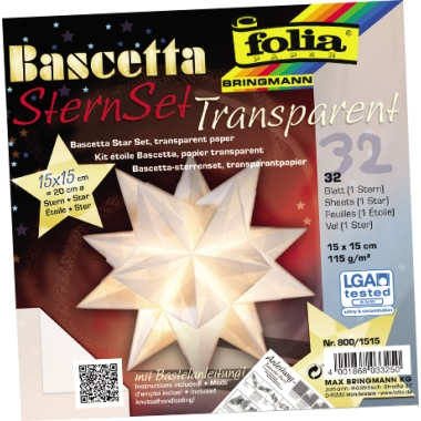 folia® Bastelset Origami Stern  15 x 15 cm (B x H)