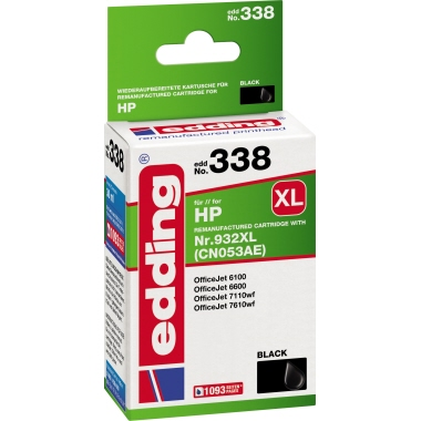 edding Tintenpatrone  HP 932XL