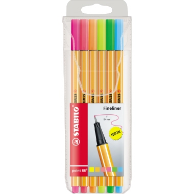 STABILO® Fineliner point 88® Neon  6 St./Pack.