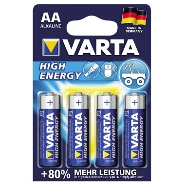 Varta Batterie High Energy Mignon/AA 2.950 mAh 4 St./Pack.