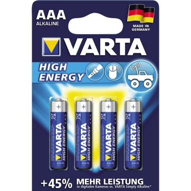 Varta Batterie High Energy Micro/AAA 1.260 mAh 4 St./Pack.
