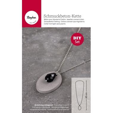 RAYHER Kreativ-Beton Kette  Oval