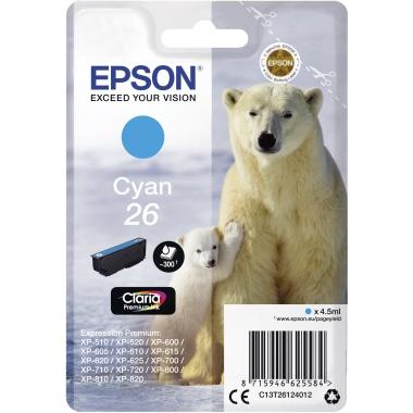 Epson Tintenpatrone  26 cyan