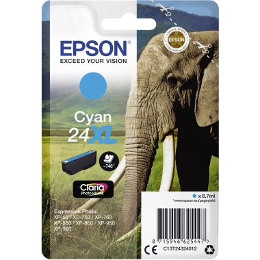 Epson Tintenpatrone 24XL cyan