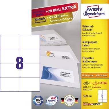 Avery Zweckform Universaletikett  1.760 Etik./Pack.