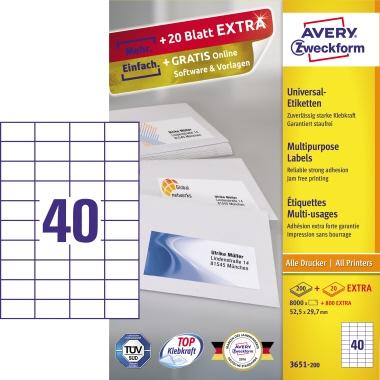 Avery Zweckform Universaletikett  8.800 Etik./Pack.