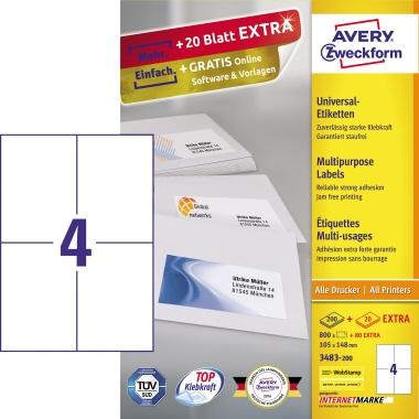 Avery Zweckform Universaletikett  880 Etik./Pack.