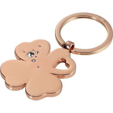 "TROIKA® Schlüsselanhänger GIRLS BEST FRIENDS ""Clover""  rose/gold"