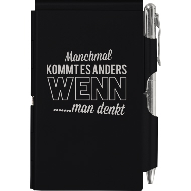 TROIKA® Notizblock-Etui Flip Notes  schwarz