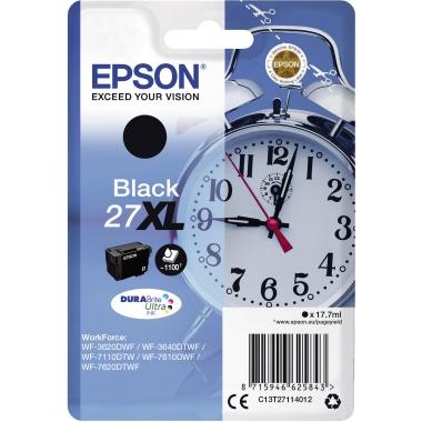 Epson Tintenpatrone 27XL schwarz